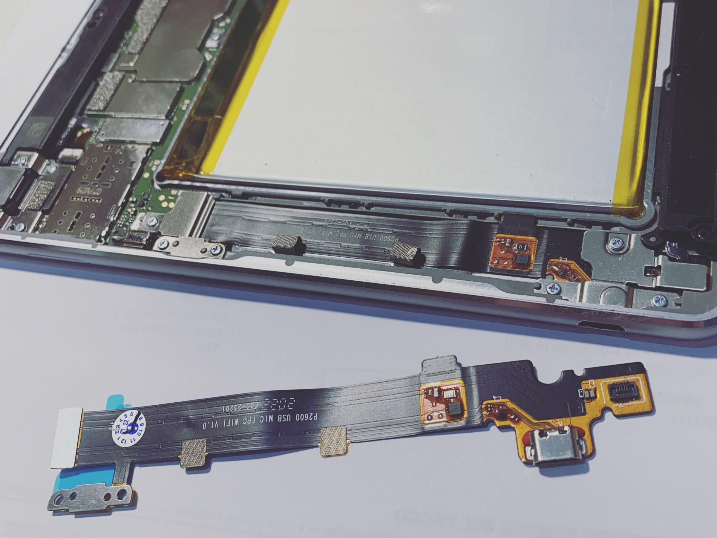 sostituzione connettore di ricarica tablet huawei desenzano del garda